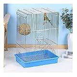 Jaula para Pájaros CAJA DE METAL DE METAL DE TIGER DE TIGER DE TIGER DE TIGER COCKATIEL PÁJARO Pájaro Pájaro Portátil de la jaula de vuelo para canario, amor pájaro jaula para pájaro ( Color : B )