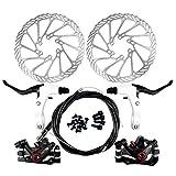 Yorbay Disco de Freno NV5 BD-09 160mm para Bicicleta Blanco con Kit de Tornillos (Negro) reutilizable