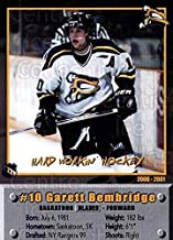 (CI) Garett Bembridge Hockey Card 2000-01 Saskatoon Blades 13 Garett Bembridge