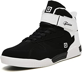 Sunly Mens Athietic Lace Up Sneaker Fashion High Top Running Shoes