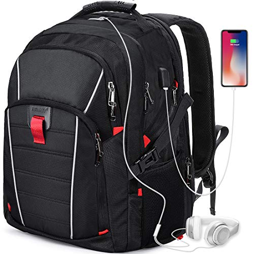 Zaino Porta PC 17.3 Pollici Laptop Impermeabile USB Zaini Notebook Scuola Viaggio Backpack Borsa Uomo Donna Nero …