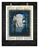 The Corpse Bride Wall Decor Featuring Victor and Emily Dictionary Art 8 x 10 Print
