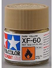 Tamiya 81760 Mini akrylfärg, matt, mörkgul, 10 ml, XF-60