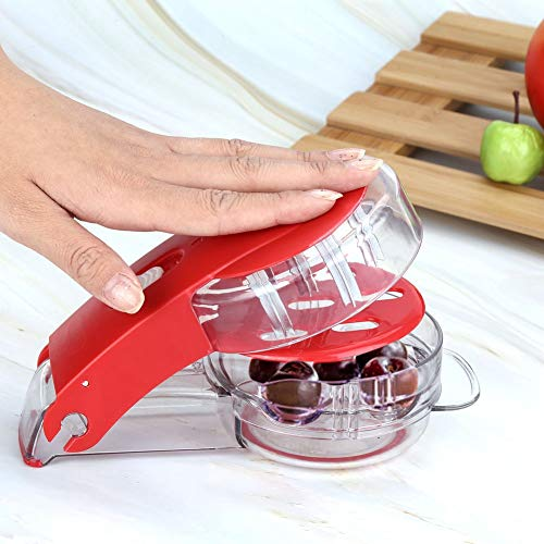 Cherry Pitter 6 Cherries at Once Multiple Olive Pit Remover Tool Stone Seed Removing Tool Home Office Travel Fruit Stone Extractor Seed Remover