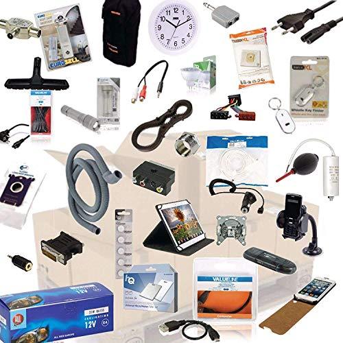 TronicXL 1 Kiste Lagerauflösung B2B Restposten Posten Sonderposten Paket Elektronik Elektro Haushalt & Co Sonderpostenstpostenpaket Lagerräumung für Flohmarkt Tombola Wiederverkäufer Palettenware