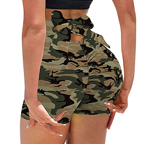 FeelFree+ TIK Tok Leggins Mujer Push Up Cinco Puntos Mallas Cintura Alta impresión Pantalones de Yoga Deportivos Alta Cintura Elásticos para Fitness Running Delgado Transpirable