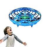 WALLE DronesforKids Boys FlyingToys Mini Hand Drones Toy with LED Lights for Boy Girl 5 6 7 8 9(Blue)