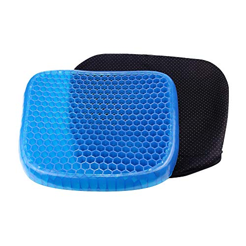 OOCOME Orthopedische Gel Comfort Memory Foam Seat Cushion, Gel Seat Cushion Ademende Pijn Relief Seat Kussen met Antislip Cover Geavanceerde Elastische Cool Gel Seat Kussen voor Bureau Stoel Rolstoel