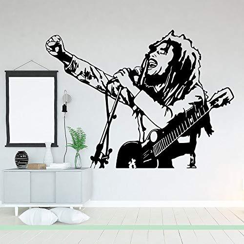 hetingyue muurtattoo kinderkamer leeuw rok muziek ster vinyl muursticker woonkamer