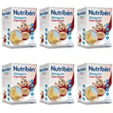 Nutribén Papillas Desayuno, Desde Los 12 Meses, Copos De Trigo, Pack De 6 unidades x 750 g