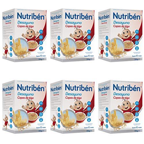 Nutribén Papilla de Copos de Trigo para el Desayuno, Sin aceite de...