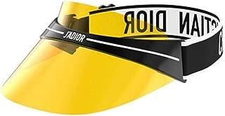 Authentic Christian Dior DIORCLUB 1 Visor 0OT Black White/Yellow Sunglasses
