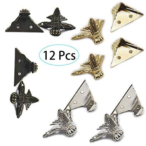 12 piezas pierna protector de la esquina (4 x oro, 4x plata