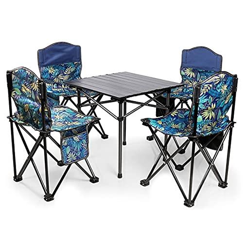 LLY Juego de Muebles de jardín, Juego de Mesa y sillas Plegables...