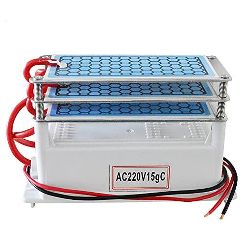 ATWFS 220 V 15 G / H Generador de Ozono Placas de Cerámica Integradas con Portátil(Tres Capas) Adecuadas para Ozonizador de Aire, Purificador de Aire, Esterilizador