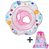 Premium Baby Swimming Inflatable Swim Float Ring,Children Infant Inflatable Floats with Double Airbag,Swimming Pool Toys Accessories for Bathtub and Pools Swim Trainer of 3-36 Month Baby Kids