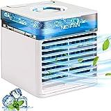 HZIXIXI Ventilador Aire Frio con Agua - Humidifica Ventilador Climatizador - Dispositivo De Enfriamiento Personal Aire Acondicionado Movil - para El Hogar, La Oficina, El Dormitorio, La Cocina
