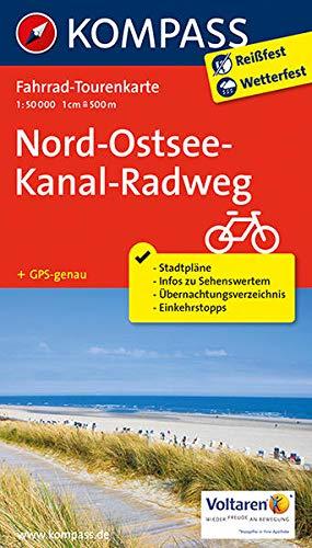 Fahrrad-Tourenkarte Nord-Ostsee-Kanal-Radweg: Fahrrad-Tourenkarte. GPS-genau. 1:50000. (KOMPASS-Fahrrad-Tourenkarten, Band 7054)