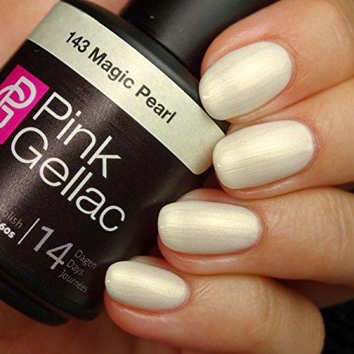 Pink Gellac 143 Magic Pearl UV Nagellack. Professionelle Gel Nagellack shellac für mindestens 14 Tage perfekt glänzende Nägel