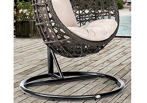 DESTINY Hängesessel Coco, Kunststoff, inkl. Sitz- und Rückenkissen 1 Stuhl, dunkelgrau - 3