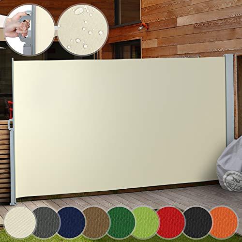 Colore:Antracite CCLIFE Tenda da Sole Laterale Alluminio Tenda Paravento per Esterno Tendalino per Patio Terrazzo Protezione da Sole da Giardino Dimensione:160x300cm