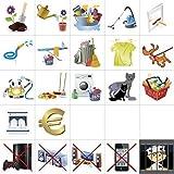 Smagnon Familienplan Haushalt Wochenplaner Kühlschrank - Zusatzset Icons 22 Stück