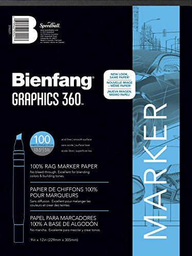 Bienfang Graphics 360 Marker Paper Pad, 9-Inch by 12-Inch, 100 Sheets