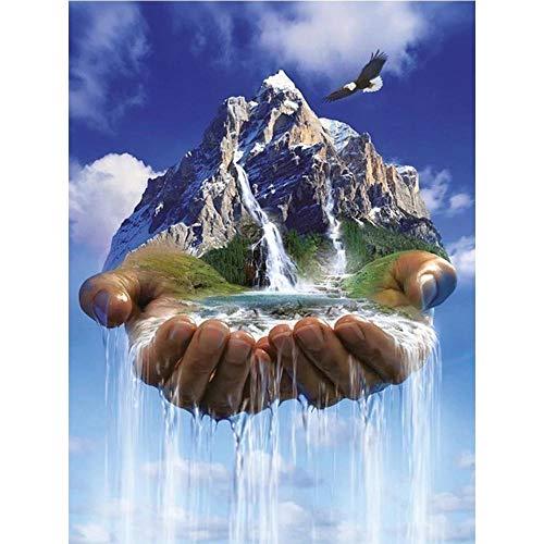 Yingxin34 Puzzle de 2000 Piezas - Montaña Nevada en el Cielo - Puzzle para Adultos y niños Mayores de 12 años. Rompecabezas entretenido y desafiante para Horas de diversión Familiar. Los 70x100cm