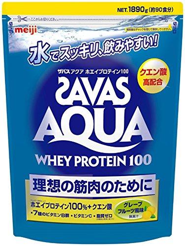 ザバス(SAVAS) アクアホエイプロテイン100+クエン酸 グレープフルーツ風味【90食分】 1,890g