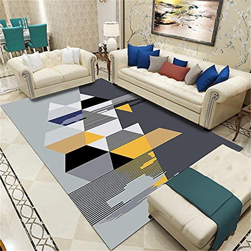 Alfombra Cuadrada Alfombra Bebe Costura geométrica Dormitorio Moderno Sala salón salón Antideslizante...