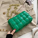 Luxury Women's Shoulder Bag Woven Leather Flap Bag for Women 2022 Designer Handbag Thick Chain Messenger Bag