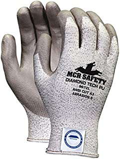Memphis MCR Safety 9672 13 Gauge Dyneema blended shell,diamond Tech PU Size Extra Small 12-Pairs