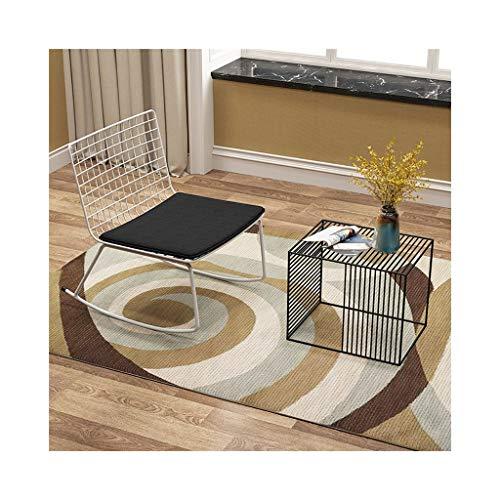 Chaise à bascule simple de fer avec la vieille chaise décontractée de jardin de coussin de table basse 708-YY (Color : One chair+table)