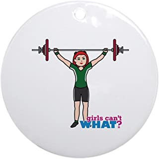 CafePress Weight Lifter Light/Red Ornament (Round) Round Holiday Christmas Ornament