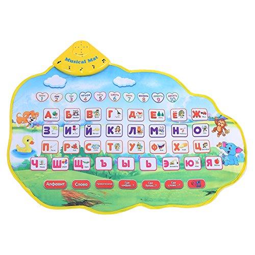 Baby Tier Musikmatte Klavier Spielen Cartoon Musical Krabbeln Matten Singen Teppich Frühe Pädagogische Lernspielzeug für Baby Geschenk Russisch