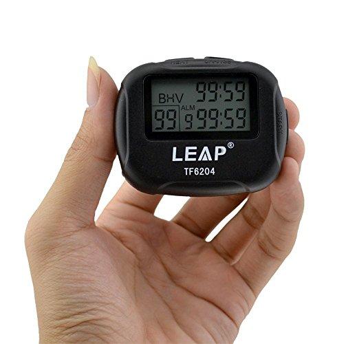 Cuzit Pantalla LCD digital grande TF6204 Temporizador de intervalo de alarma para entrenamiento, correr, yoga, levantamiento de pesas, correr, cronómetro deportivo
