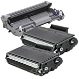 (1 Drum + 2 Toner) 2inkjet© Compatible with Brother DR520 Drum & TN580 Toner Combo For DCP-8060, DCP-8065, DCP-8065DN, HL-5240, HL-5250, HL-5270DN, HL-5280, MFC-8460N, MFC-8470DN, MFC-8660DN, MFC-8670DN, MFC-8860, MFC-8870DW, MFC-8870WN