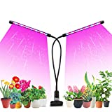 Likesuns Led Grow Light Plant Light 20W for Indoor Plants, Dual Head 40 LED 10 Dimmable Levels Timing Function 3/9/12H, Full Spectrum Plant Grow Light, 3 Switch Modes 360° Adjustable Gooseneck