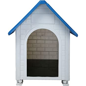 Amazon Com Outdoor Dog House With Door Plastic Water Resistant