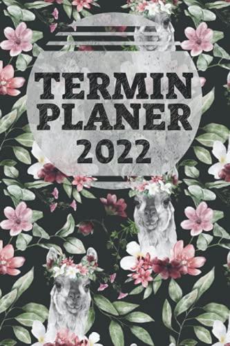 Terminplaner 2022: A5 Terminkalender mit süßem Lama-Motiv | Monats- und Wochenübersicht | Inklusive To-Do Listen, Habit Tracker und Platz für Notizen ... Studium, Alltag und Arbeit | Softcover