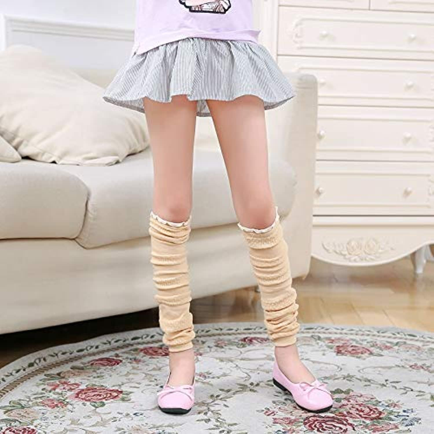 Winter Women Girls Knee Socks, Insect Bites, Leg Predection, Over The Knee, Sun Predection, air Conditioning, Warm (color   Beige) Leg Warmers
