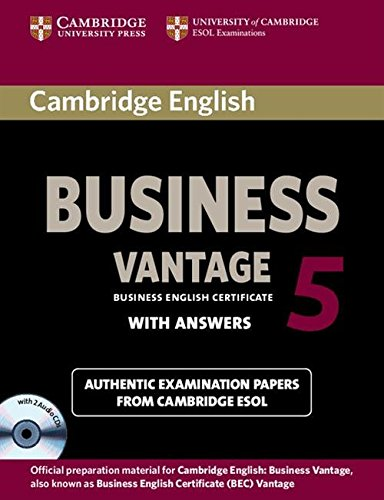 Cambridge English Business 5 Vantage Self-Study Pack (Student\'s Book with Answers and Audio CDs (2))