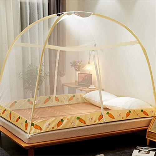ZJUAN Grande Moustiquaire,pour Dream Privacy Space Extérieur Intérieur,idéal Pliage Filet De Lit F 120 * 200 * 160(cm)