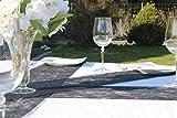 AmaCasa Vlies Tischband 23cm/20m Rolle Tischläufer Flower Vlies Hochzeit Kommunion (Schwarz, Vlies) - 6