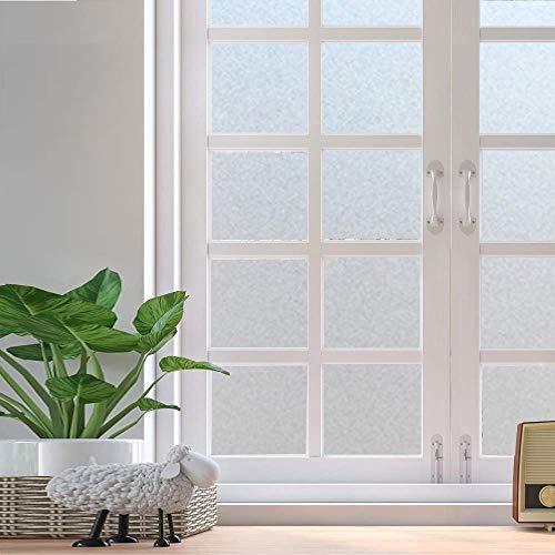 Película de Ventana de privacidad Opaca Mate, Pegatina de Vidrio Esmerilado Impermeable, Adecuada para baño, Sala de Estar, Oficina, Tienda U 30x300cm