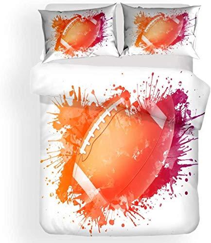 LanternsRiddles 3 Pieces Duvet Cover,Printed Quilt Cover with Zipper Closure,3 Pieces(1 Duvet Cover + 2 Pillowcases), Soft Microfiber Bedding-3_Double200x200cm