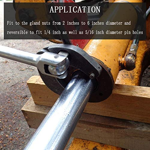 1226 Adjustable Gland Nut Wrench for Hydraulic Cylinders in Construction and Farm Equipment Scenarios