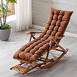Sillas plegables de tela Silla plegable, sillón reclinable plegable de bambú y madera, silla mecedora, silla reclinada de madera maciza for el hogar, silla de siesta, silla reclinable de patio reclina