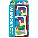 School Zone - Memory Match Farm Card Game - Ages 3+, Preschool to Kindergarten, Animals, Early...