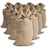 10 Sacs toile de jute - Sac jute pomme de terre – Sac a patate conservation – Anti inondation (30 x 60 cm)